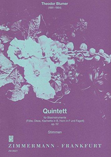 Bloomer: Quintet Op.52 (flute% comma% oboe% comma%