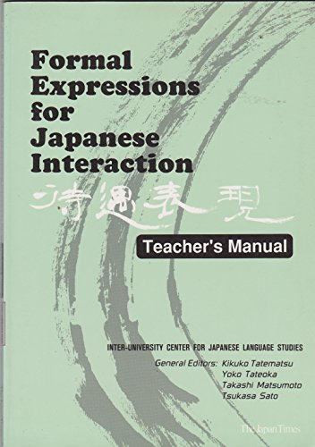 9784789005739: Formal Expressions for Japanese Interaction: Teacher's Manual