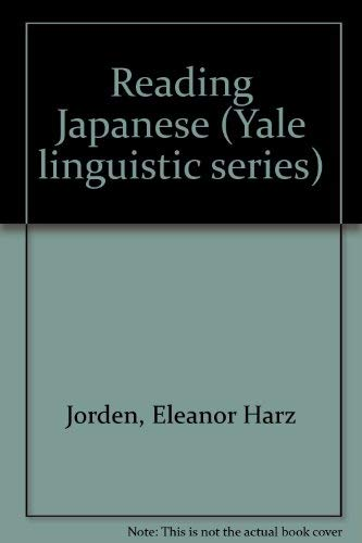 9784805304310: Reading Japanese (Yale linguistic series)