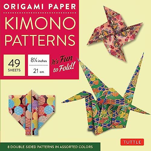 9784805310717: Origami Paper - Kimono Patterns - Large 8 1/4
