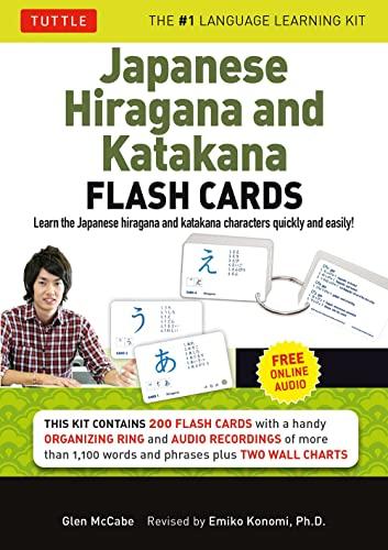 Learning Japanese Hiragana & Katakana Flash Cards Kit: McCabe, Glen/ Konomi, Emiko (Editor)