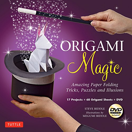 9784805312100: Origami Magic Kit: Amazing Paper Folding Tricks, Puzzles and Illusions: Kit with Origami Book, 17 Projects, 60 Origami Papers and DVD