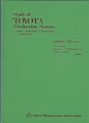 9784820702658: Study of 'Toyota' Production System from Industrial Engineering Viewpoint