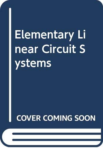 9784833700146: Elementary Linear Circuit Systems