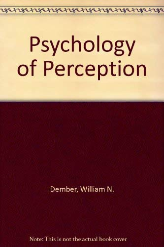 9784833700207: Psychology of Perception