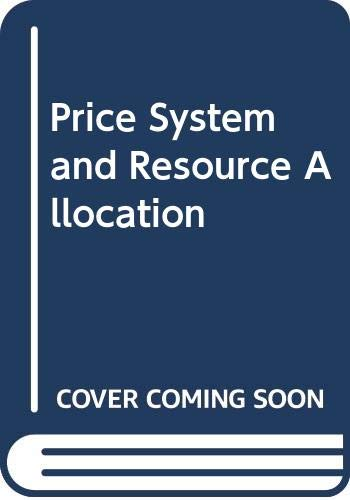 9784833700856: Price System and Resource Allocation