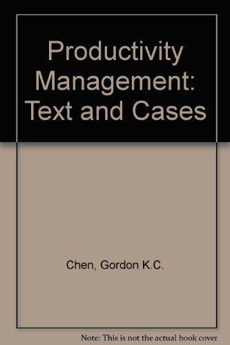 9784833700931: Productivity Management: Text and Cases