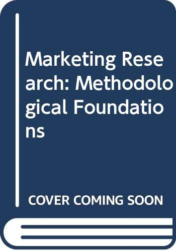 9784833701341: Marketing Research: Methodological Foundations