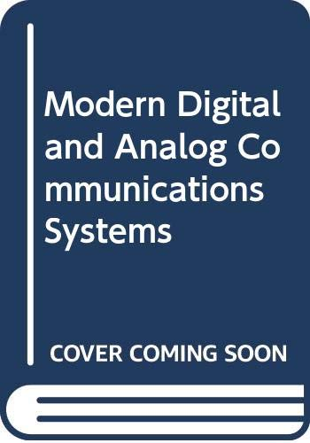 9784833701563: Modern Digital and Analog Communications Systems