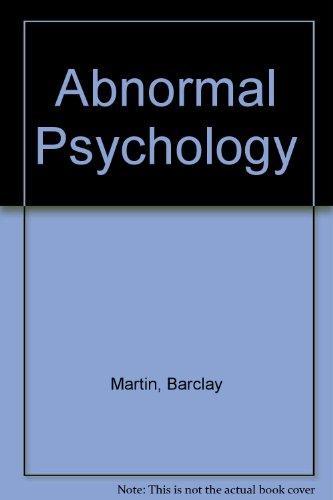 9784833702249: Abnormal Psychology
