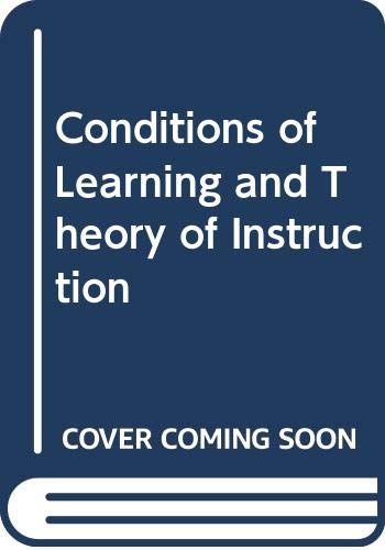 Stock image for Conditions of Learning and Theory of Instruction for sale by Goldstone Books