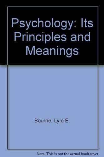 9784833702317: Psychology: Its Principles and Meanings