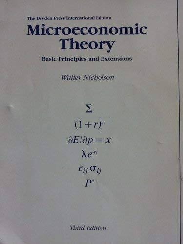 9784833702447: Microeconomic Theory: Basic Principles and Extensions