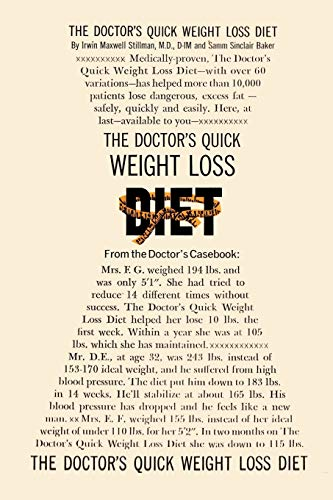 The Doctor's Quick Weight Loss Diet (4871877205) by Dr. Irwin Maxwell Stillman M.D.; Samm Sinclair Baker