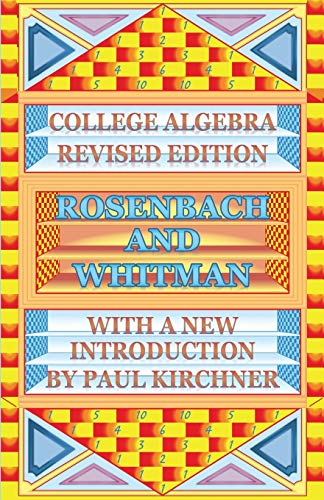 9784871877237: College Algebra by Rosenbach