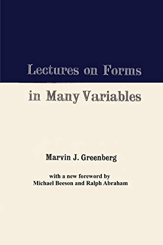 Lectures on Forms in Many Variables: Greenberg, Marvin J