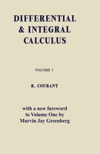 9784871878388: Differential and Integral Calculus, Vol. One: 1