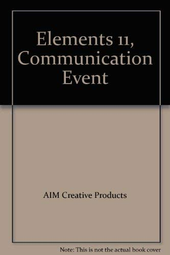 Elements 11 Communication Events. (Aus Design & Marketing Books, 12 Bände) AJ Research Institute.