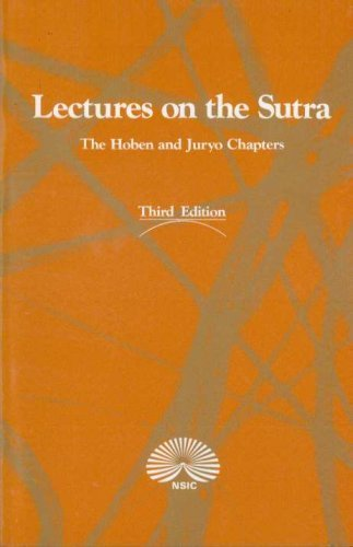 Lectures on the Sutra: The Hoben and: Nichiren Shoshu International