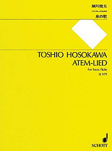 9784890664795: Atem-lied: for Bass Flute