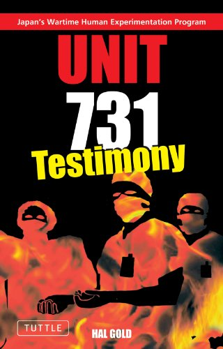 9784900737396: Unit 731 - Testimony