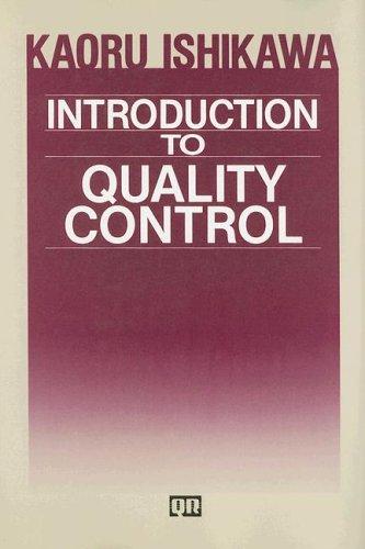 Introduction to Quality Control: Ishikawa, Kaoru