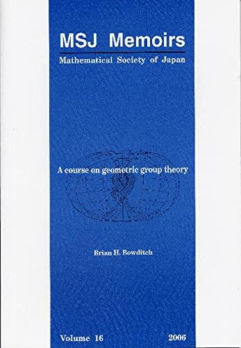 9784931469358: A Course on Geometric Group Theory (MSJ Memoirs)