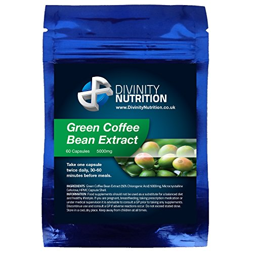 9784998714293: Green Coffee Bean Extract 5000mg 60's | GMP Manufactured | Weight Loss Capsules | Divinity Nutrition