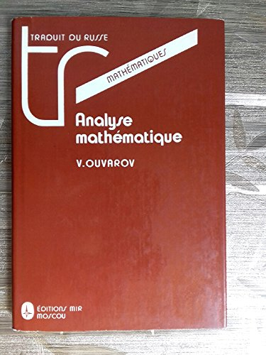 9785030001869: Analyse mathematique