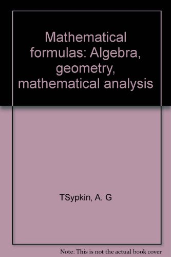 9785030008066: Mathematical formulas: Algebra, geometry, mathematical analysis