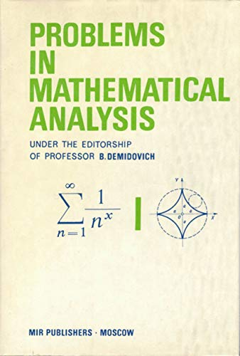 9785030009438: Problems in Mathematical Analysis
