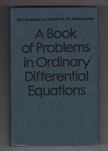 A Book of Problems in Ordinary Differential Equations: Krasnov, M.L.