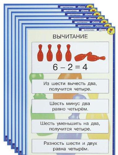9785090206150: Matematika. 1 klass (komplekt iz 16 demonstratsionnyh tablits)