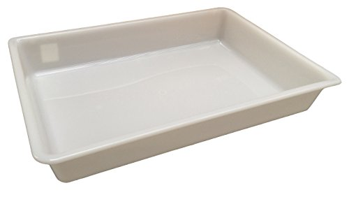 9785222787984: 12 Litre (L 535 x W 380 x H 85mm) - White Shallow Nesting Food Grade Storage Tray Commercial Display Box (2)
