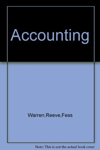 Accounting 19th Edition: Warren - Reeve