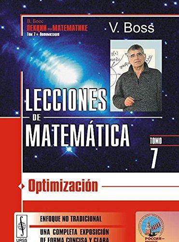 9785396005259: Lecciones de matemáticas, vol. 4 : optimización