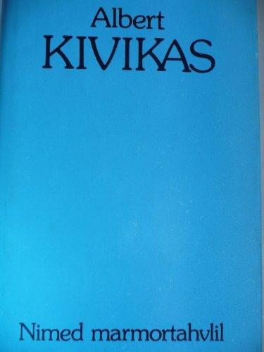 9785450014890: Nimed marmortahvlil (Eesti romaanivara) (Estonian Edition)