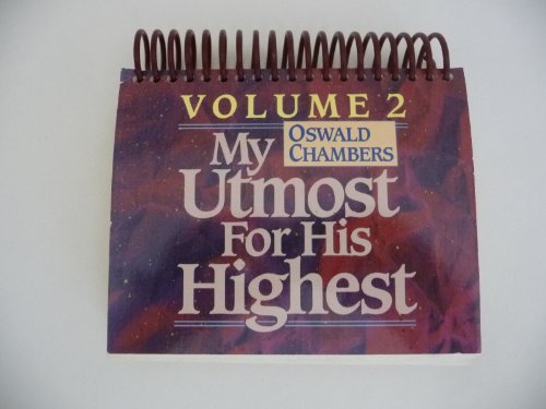 My Utmost for His Highest Vol. 2-Calendar: Chambers, Oswald