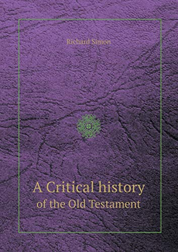 9785518410992: A Critical History of the Old Testament