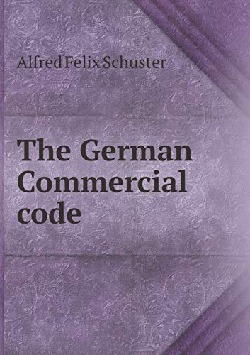 9785518458482: The German Commercial code