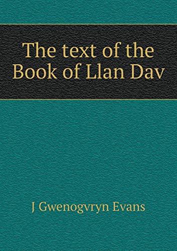 9785518459656: The text of the Book of Llan Dav