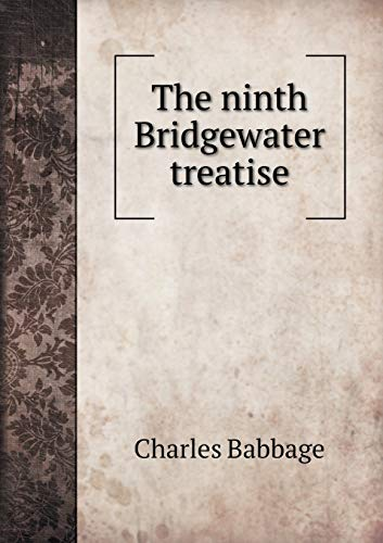9785518552418: The ninth Bridgewater treatise