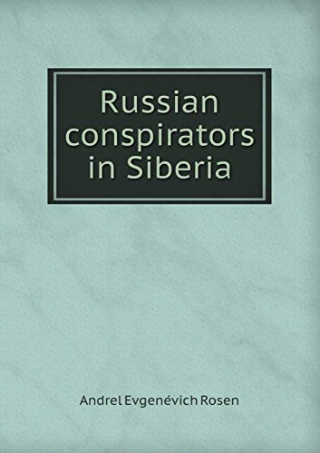 9785518595378: Russian Conspirators in Siberia