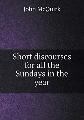 9785518694743: Short discourses for all the Sundays in the year