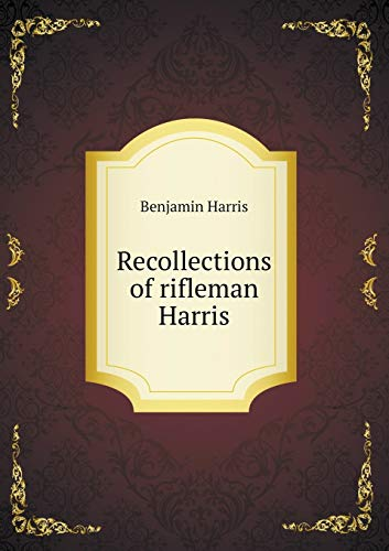 9785518749030: Recollections of rifleman Harris