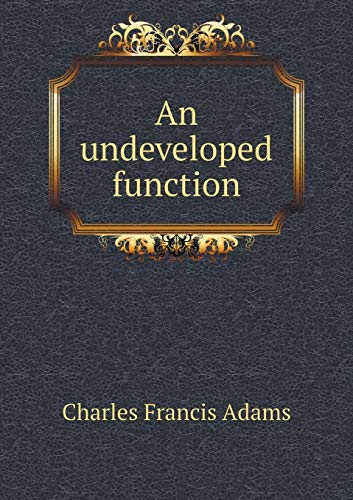 9785518757837: An undeveloped function