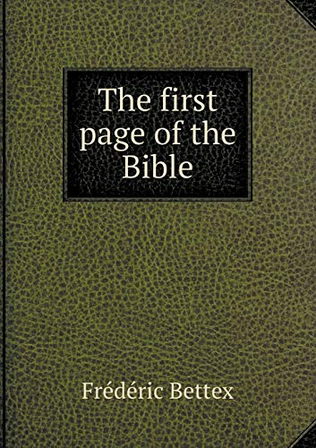 9785518801516: The First Page of the Bible