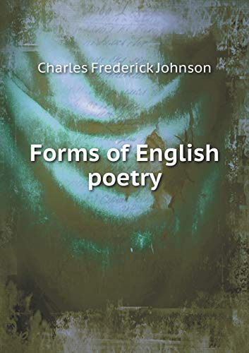 9785518809185: Forms of English poetry
