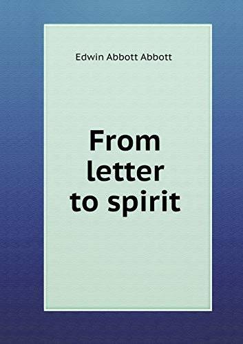 9785518820685: From letter to spirit