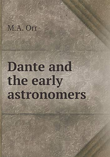 9785518823662: Dante and the early astronomers